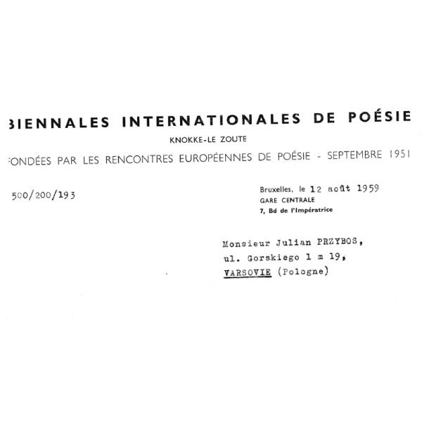 I05 Biennales Internationales de Poésie